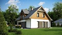 Проект Т-образного дома с мансардой