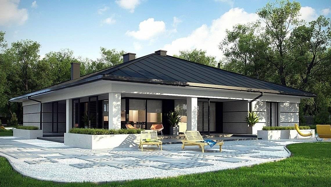 Одноэтажный коттедж 180 m² в современном стиле