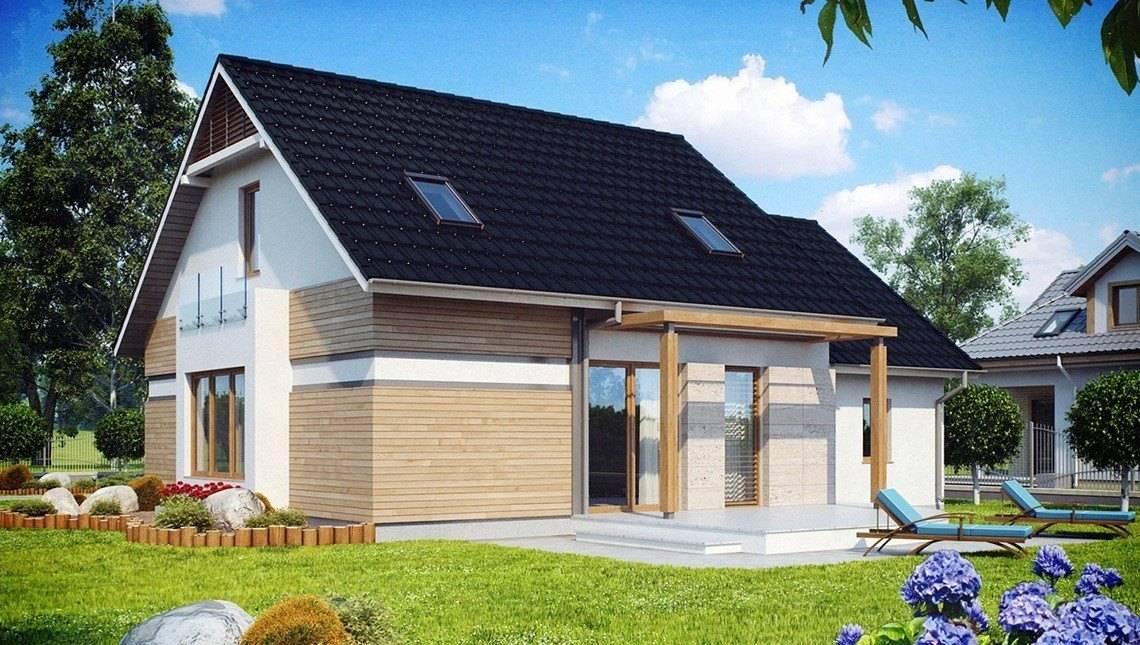 Проект 1,5-этажного дома с одинарным гаражом