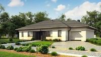 Проект одноэтажного дома для узкого участка