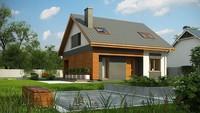 Стильный проект современного коттеджа с кирпичным фасадом