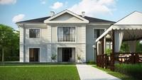 Проект представительной двухэтажной усадьбы