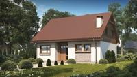 Проект небольшого экономичного дома с мансардой
