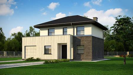 Небольшой компактный двухэтажный домик