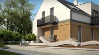 Двухэтажный коттедж в классическом стиле с элементами кубизма