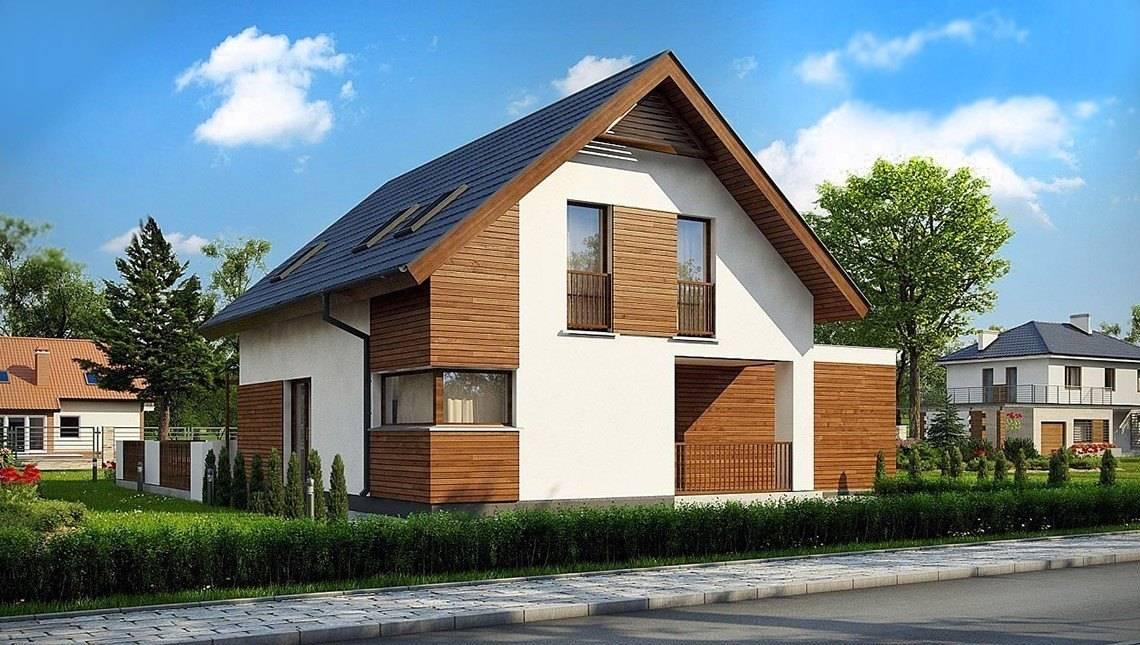 Проект двухэтажного дома с гаражом на две машины площадью более 150 m²
