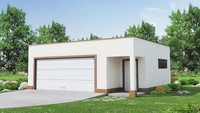 Минималистичный проект гаража на два авто