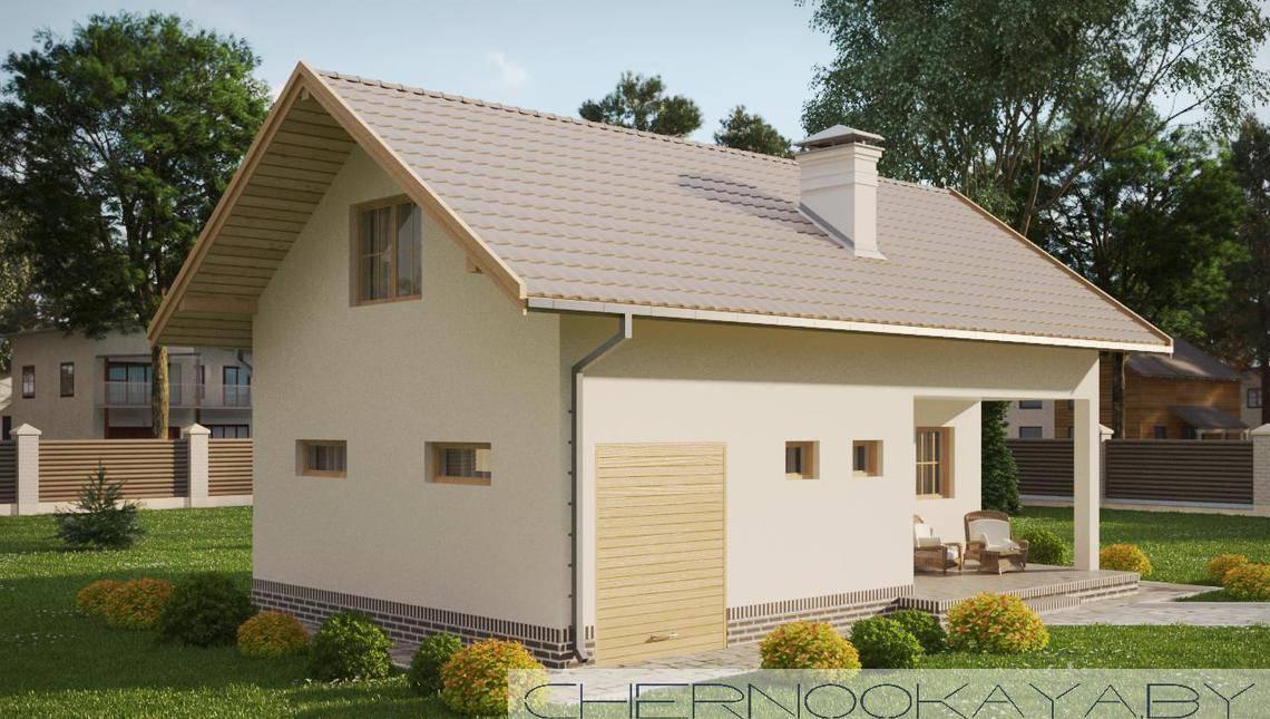 Современный дом для отдыха и банных процедур