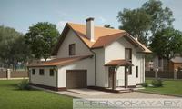 Небольшой привлекательный жилой дом на два этажа