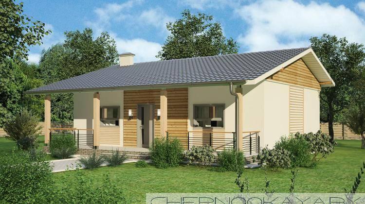 Компактный дом для небольшого дачного участка