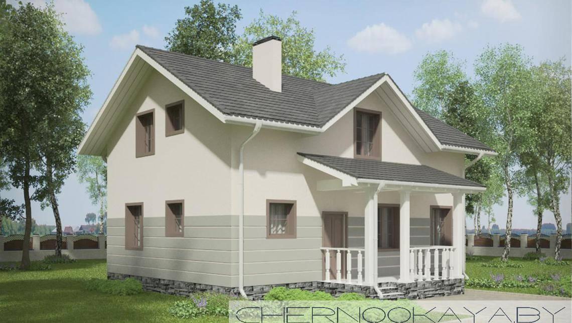 Приятного вида двухэтажный жилой дом