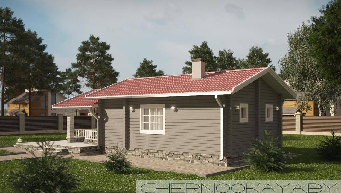 Небольшой дом для загородного отдыха