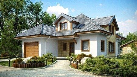 Проект дома с мансардой и котельным помещением