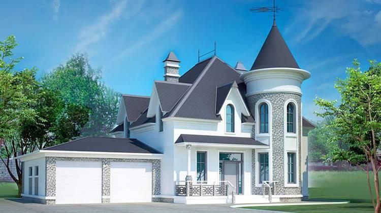 Небольшой красивый необычный дворец