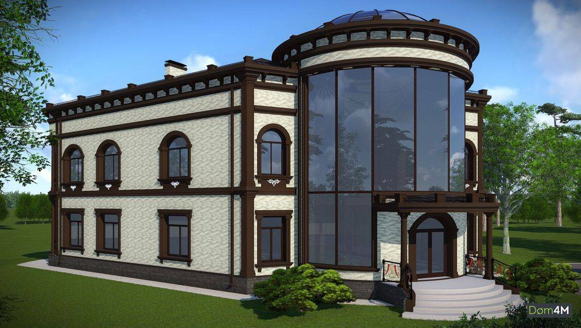 Большая фешенебельная резиденция V - образной формы