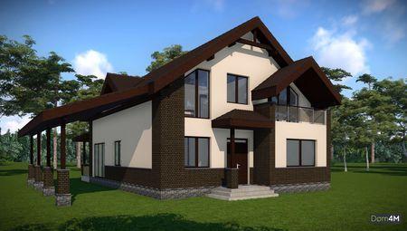 Проект мансардного дома общей площадью 225 кв.м
