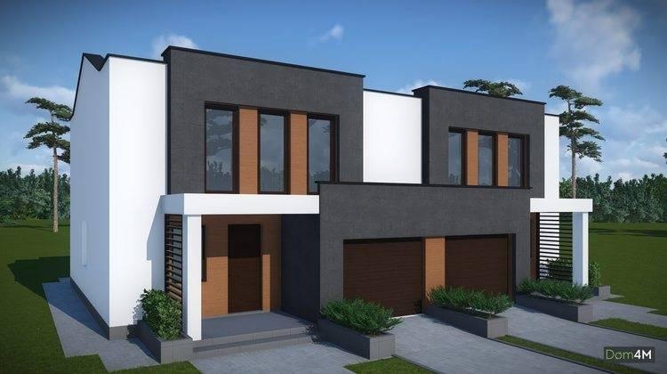 Архитектурный проект современного двухсемейного дома
