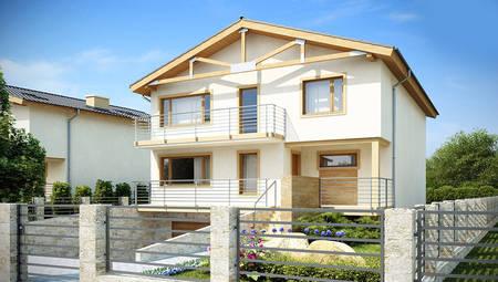 Проект двухэтажного дома с подвалом и спортзалом