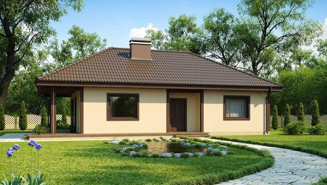 Проект аккуратного небольшого дома с террасой