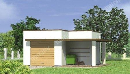 Компактный гараж на 1 авто