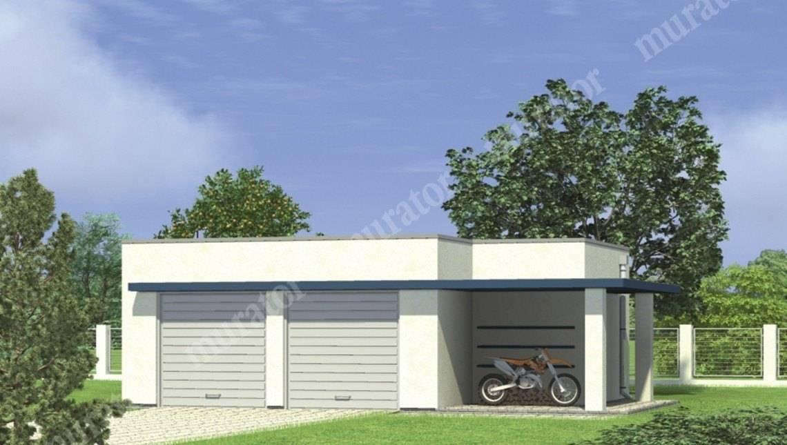 Аккуратный гараж на 2 авто