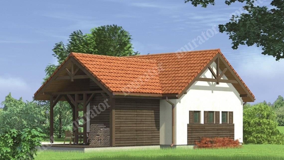 Капитальный гараж на два авто с красивой крышей