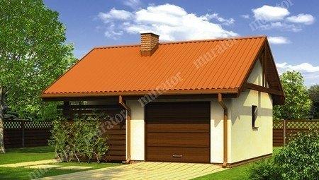Красивый небольшой  гараж