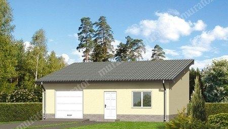Проект гаража на 1 машину с односкатной крышей