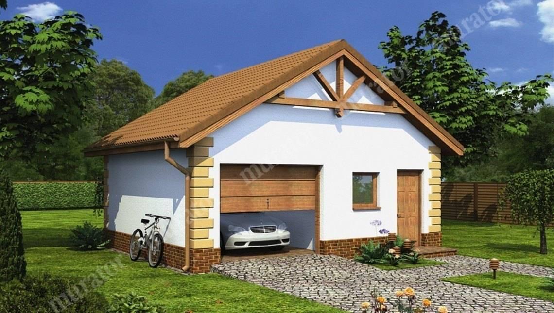 Небольшой красивый гараж