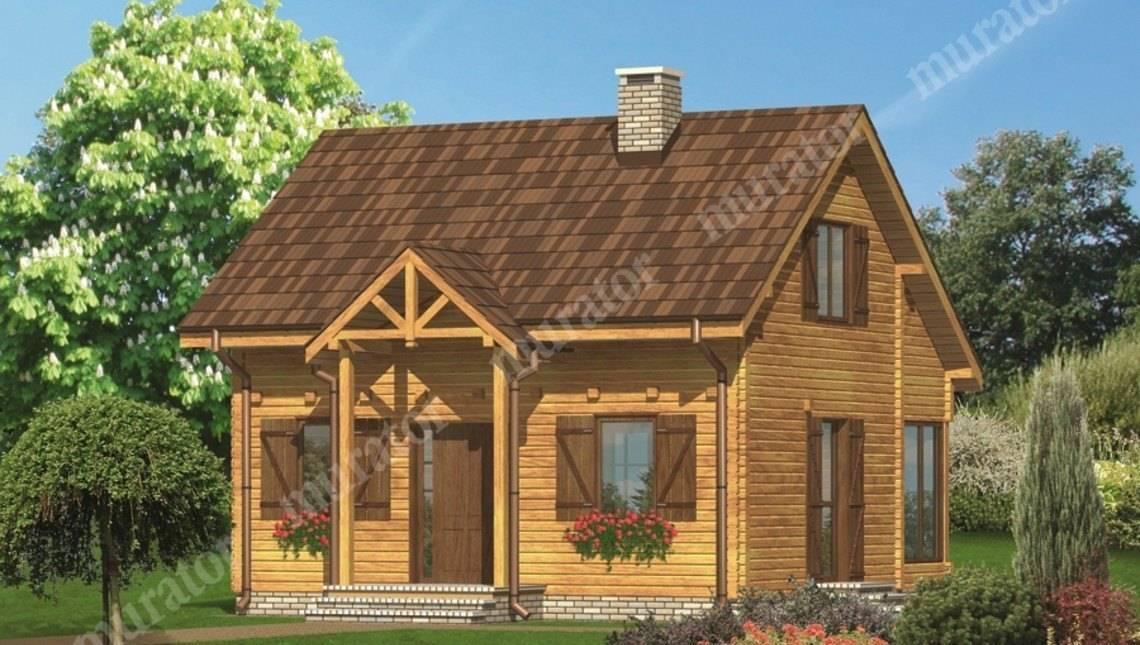 Деревянный дом со ставнями