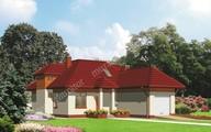 Коттедж с крышей сложной формы на 4 спальни