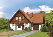 Проект красивого дома с гаражом
