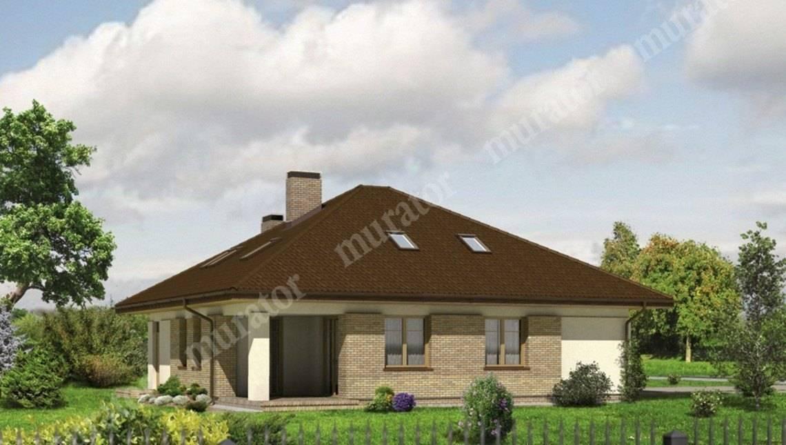 Проект интересного дома с гаражом