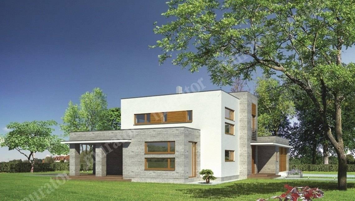 Современный дом с гаражом на 2 автомобиля