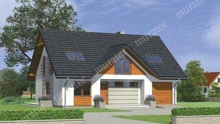 Двухэтажный жилой дом с гаражом