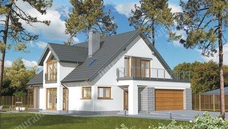 Двухэтажный особняк уникальной планировки