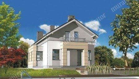 Стильный жилой дом на 2 балкона