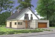 Стильное строение с двухскатной крышей