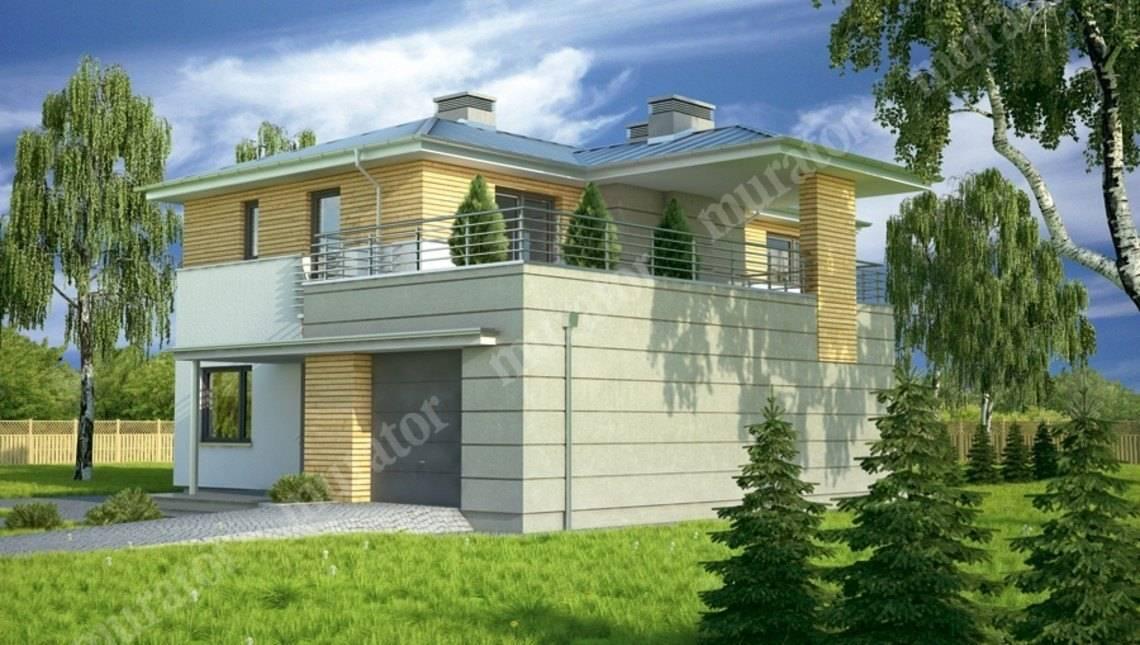 Стильный дом с террасой на втором этаже