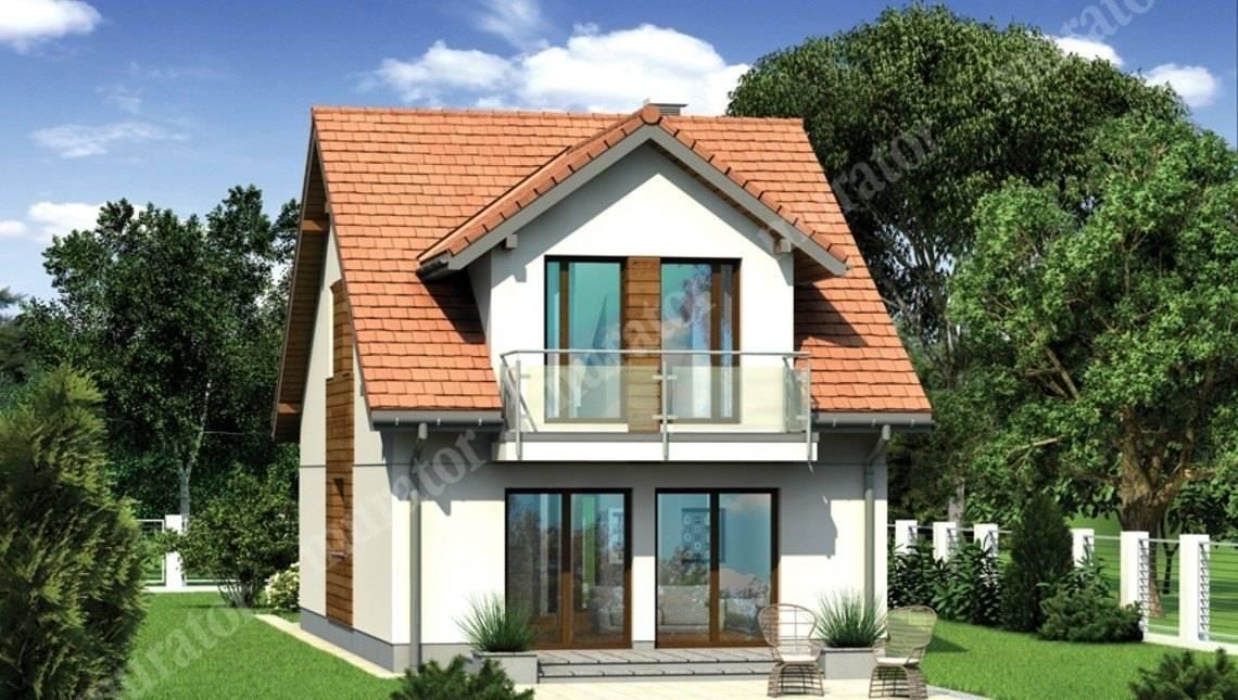 Жилой двухэтажный дом для узкого участка