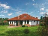 Просторный дом с кирпичным орнаментом