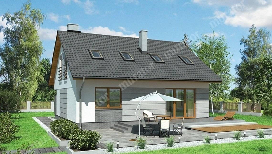 Двухэтажный дом в форме квадрата