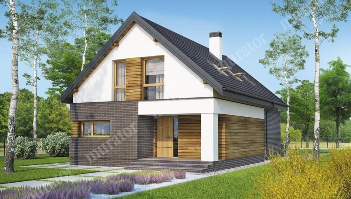 Двухэтажный дом с темным декором