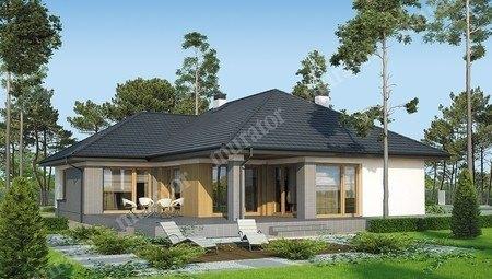 Одноэтажный дом с верандой