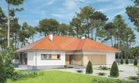 Одноэтажный дом в жизнерадостной расцветке