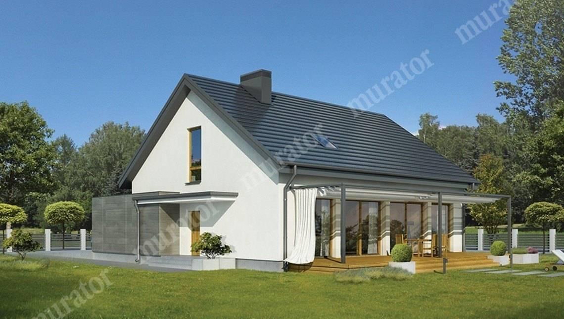 Красивый дом в бело-сером цвете