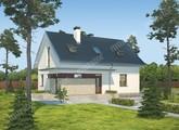 Жилой дом с интересным кирпичным декором