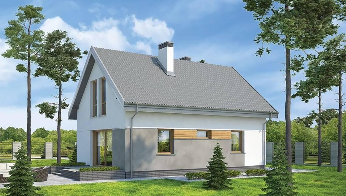 Небольшой двухэтажный дом