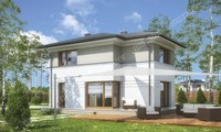 Солидный двухэтажный дом