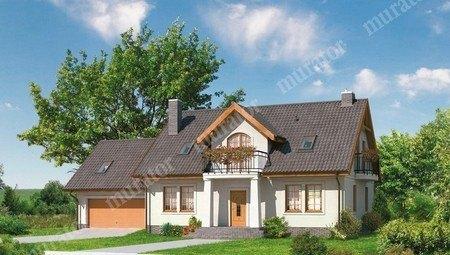 Двухэтажный дом в классическом стиле
